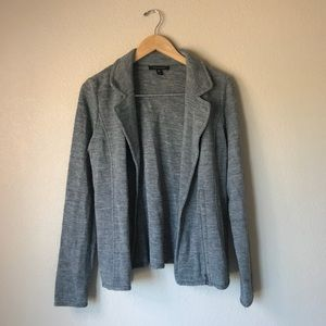 Tahari Gray Wool Blend Blazer